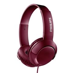 Slušalke Philips Bass+, žične, rdeče