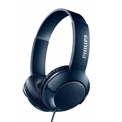 Slušalke z mikrofonom Philips Bass+ SHL3075, žične, modre