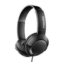 Slušalke z mikrofonom Philips Bass+ SHL3175, žične, črne
