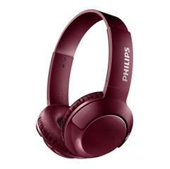 Slušalke z mikrofonom Philips Bass+ SHB3075RD, brezžične, rdeče