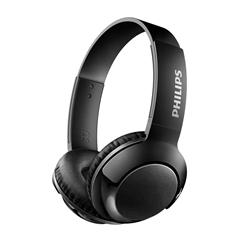 Slušalke z mikrofonom Philips Bass+ SHB3075BK, brezžične, črne