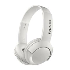Slušalke z mikrofonom Philips Bass+ SHB3075WT, brezžične, bele