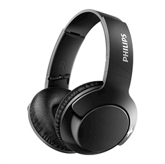 Slušalke z mikrofonom Philips Bass+ SHB3175BK, brezžične, črne
