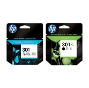 Komplet kartuš HP nr.301 (barvna) + nr.301 XL (črna), original