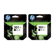 Komplet kartuš HP CH563EE nr.301 XL (črna), dvojno pakiranje, original