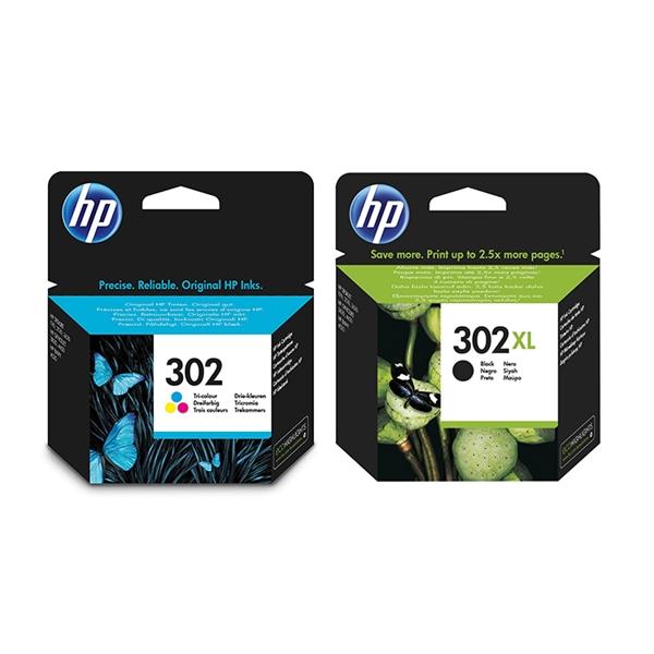 Komplet kartuš HP nr.302 (barvna) + nr.302 XL (črna), original