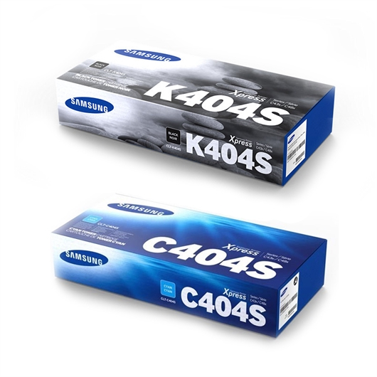 Komplet tonerjev Samsung CLT-K404S (črna) + CLT-C404S (modra)