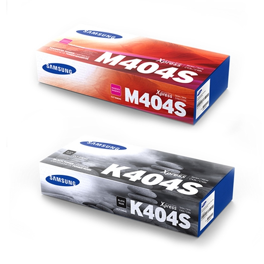 Komplet tonerjev Samsung CLT-K404S (črna) + CLT-M404S (škrlatna)