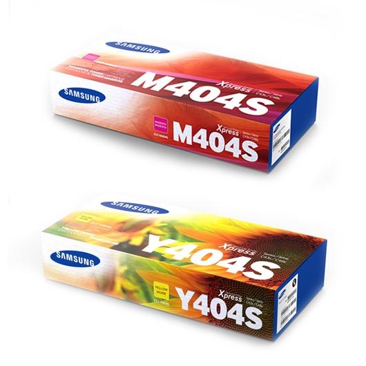 Komplet tonerjev Samsung CLT-M404S (škrlatna) + CLT-Y404S (rumena)