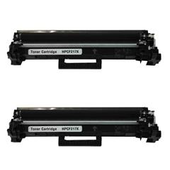 Toner za HP CF217X 17X (črna), dvojno pakiranje, kompatibilna
