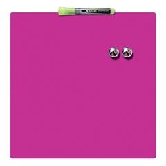 Magnetna tabla Nobo Quarter  36 x 36 cm, roza