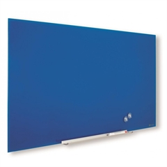 Stenska steklena tabla Nobo Diamond, 38,1 x 67,7 cm, modra