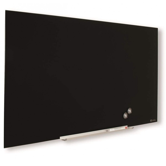 Stenska steklena tabla Nobo Diamond, 55,9 x 99,3 cm, črna