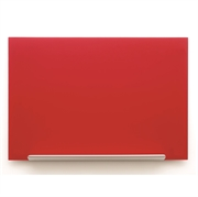 Stenska steklena tabla Nobo Diamond, 55,9 x 99,3 cm, rdeča