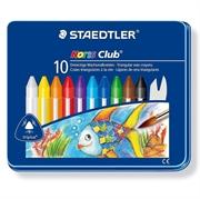 Voščene barvice Staedtler Noris Club, kovinska embalaža, 10 kosov