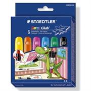 Voščene barvice Staedtler Noris Club, intenzivne barve, 6 kosov