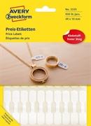 Etikete Zweckform 3335 za cene (nakit), 49 x 10 mm, bele