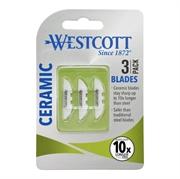 Nadomestna keramična rezila Westcott, 3 kosi