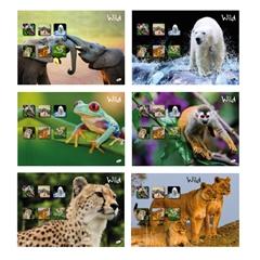Zvezek A4, brezčrten, 52 l, divje živali