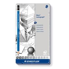 Grafitni svinčnik Staedtler Mars Lumograph, 12 kosov