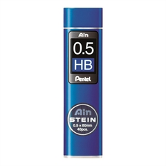 Mine za tehnični svinčnik Pentel Ainstein C275, HB, 0.5 mm, 40 kosov