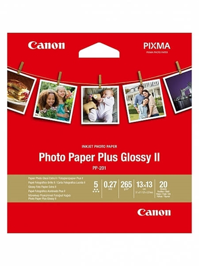 Poškodovana embalaža: foto papir Canon PP-201 Square, 13 x 13 cm, 20 listov, 265 gramov