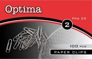 Sponke za papir Optima, 25 mm, 100 kosov