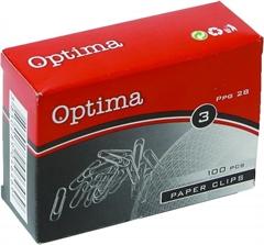 Sponke za papir Optima, 28 mm, 100 kosov