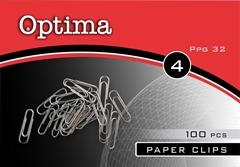 Sponke za papir Optima, 32 mm, 100 kosov
