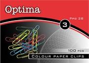 Sponke za papir Optima, barvne, 28 mm, 100 kosov