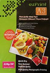 Foto papir Glossy InkJet A3, 20 listov, 230g