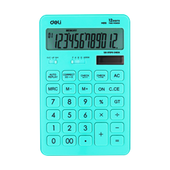 Kalkulator Deli M015, turkizna