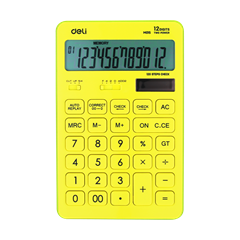 Kalkulator Deli M015, rumena