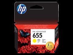 Poškodovana embalaža: kartuša HP CZ112AE nr.655 (rumena), original