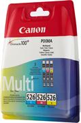 Poškodovana embalaža: komplet kartuš Canon CLI-526 Z (modra, škrlatna, rumena), original