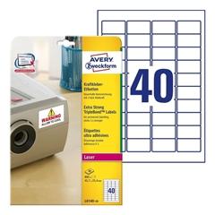 Etikete Avery Zweckform L6140-20, 45,7 x 25,4 mm, bele