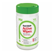Čistilni robčki PDI C ACTIVE, dezinfekcjski, 125 kosov