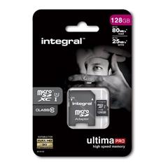 Spominska kartica Integral Micro SDXC, 128 GB + adapter