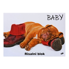 Risalni blok A3, 20 listni, 140 g, Baby kuža