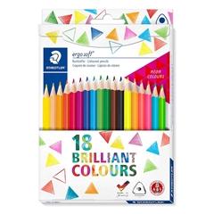 Barvice Staedtler Ergosoft ABS v kartonski embalaži, 18 kosov