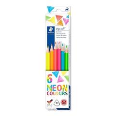 Barvice Staedtler Ergosoft ABS v kartonski embalaži, neon, 6 kosov
