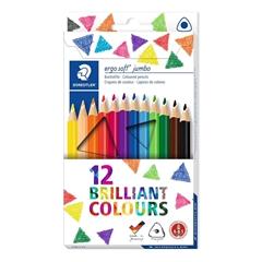 Barvice Staedtler Ergosoft Jumbo v kartonski embalaži, 12 kosov