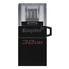 USB ključ Kingston DT microDUO G2, 32 GB, microUSB in USB, črn