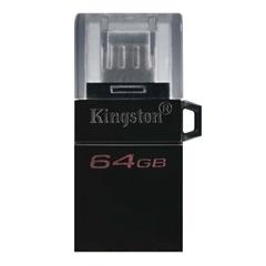 USB ključ Kingston DT microDUO G2, 64 GB, microUSB in USB, črn