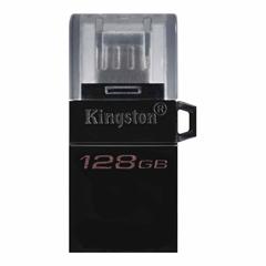 USB ključ Kingston DT microDUO G2, 128 GB, microUSB in USB, črn
