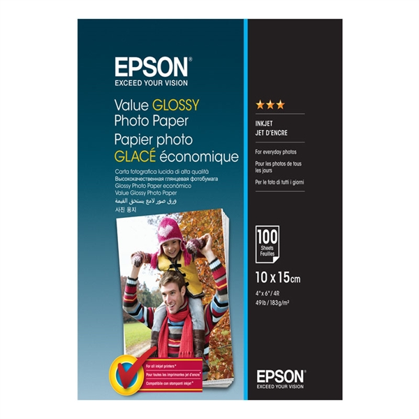 Foto papir Epson C13S400039, A6, 100 listov, 183 gramov