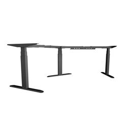 Dvižno električno podnožje UVI Desk 120° (kot), črno