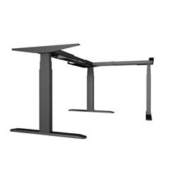 Dvižno električno podnožje UVI Desk 90° (kot), črno