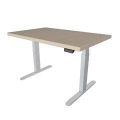 Električna miza hrast UVI Desk Sonoma, belo - rjava