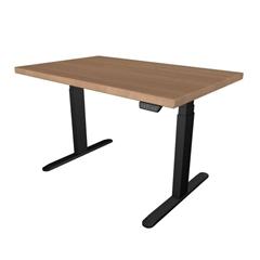Električna miza hrast UVI Desk Nature, črno - rjava